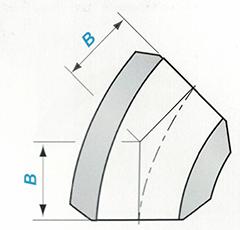 Butt-welding 45° LR Elbow Sketch Map-Walmi