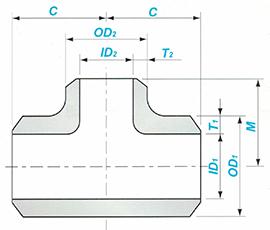 Butt-welding Reducing Tee Sketch Map-Walmi