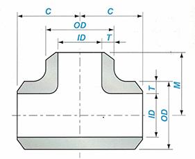 Butt-welding Straight Tee Sketch Map-Walmi