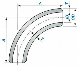 Butt-welding 90° 3D Elbow Sketch Map-Walmi