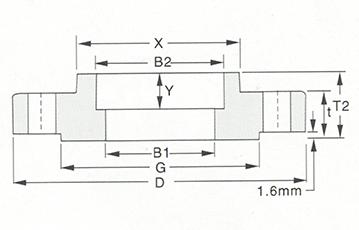 Socket Welding flange-150LB-300LB sketch map-Walmi