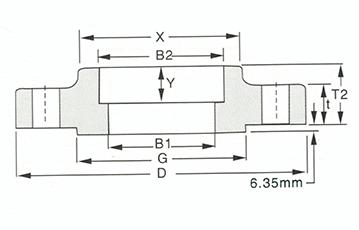 Socket Welding flange-600LB Sketch Map_Walmi