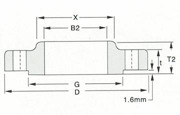 slip on flange-150LB-300LB Sketch Map-Walmi